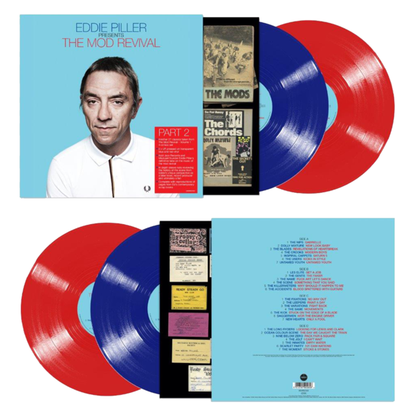 Various Artists: Eddie Piller Presents More of The Mod Revival: Limited Edition Transparent Blue and Red Vinyl