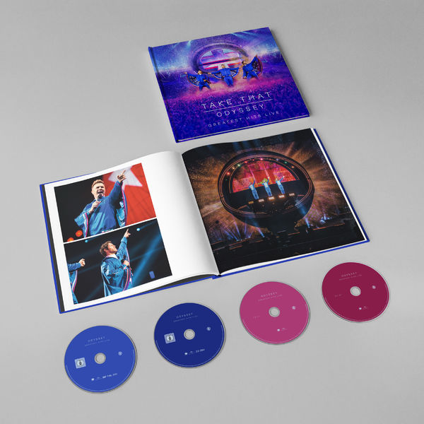 takethat: ODYSSEY GREATEST HITS LIVE LIMITED EDITION DVD, BLU-RAY + 2 CD