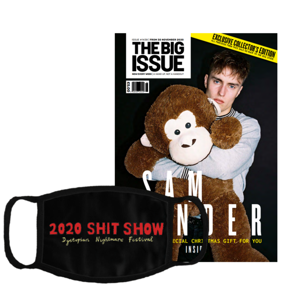 Sam Fender: Shit Show Corona Mask + The Big Issue Special Edition