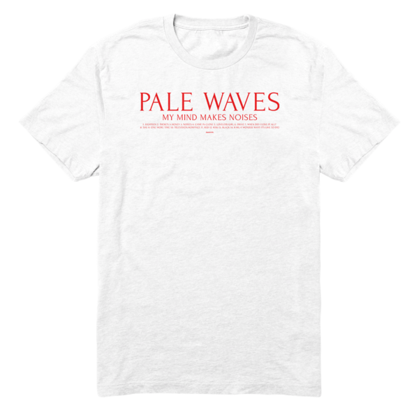 Pale Waves: Track List T-Shirt
