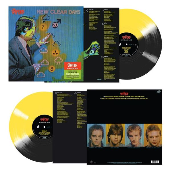 The Vapors: New Clear Days: Limited Edition 180g Yellow and Black Split Colour Vinyl