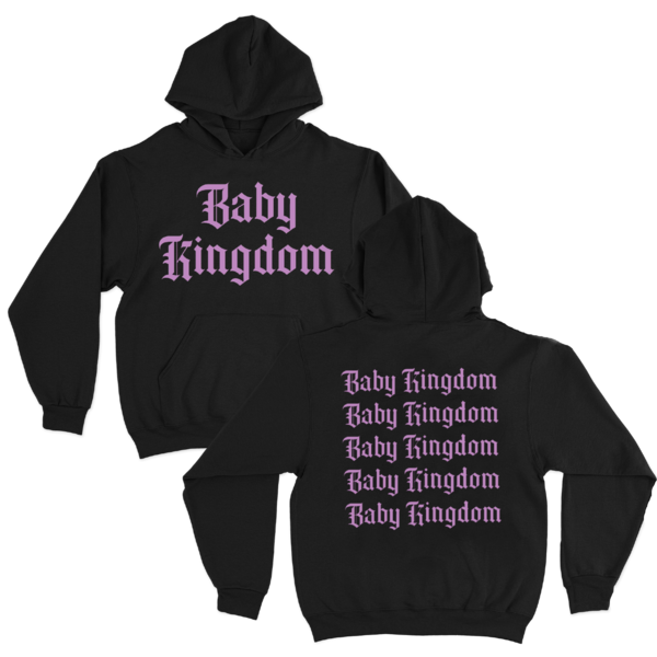 Baby Queen: Baby Kingdom Pink Print Hoodie
