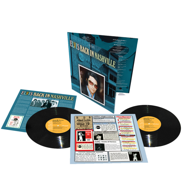 Elvis Presley: Back In Nashville: Black Vinyl 2LP