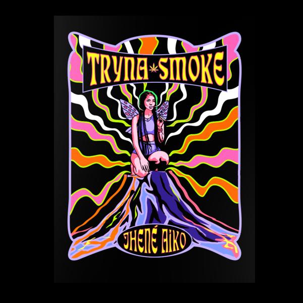 Jhene Aiko: TRYNA SMOKE BLACKLIGHT POSTER