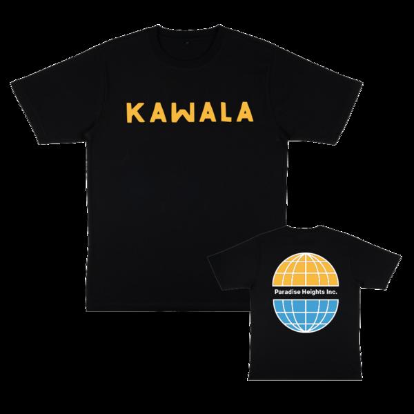 Kawala: KAWALA Logo / Paradise Heights Inc. Globe T-shirt