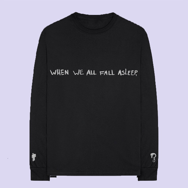 16675d9f288 Billie Eilish  asleep longsleeve