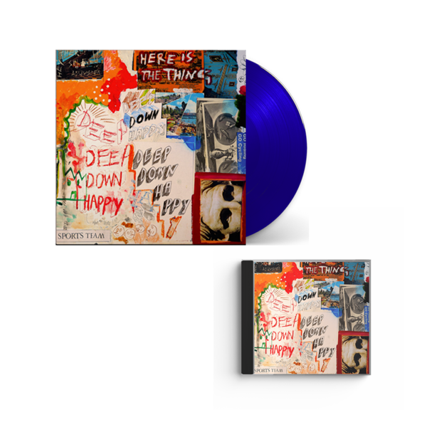 Sports Team: Deep Down Happy: Blue Vinyl + CD