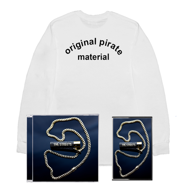 The Streets: None Of Us Are Getting Out Of This Life Alive: OPM White Longsleeve Tee, CD + Cassette