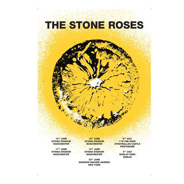 The Stone Roses: Lemon Spray Poster Full Dates 2016