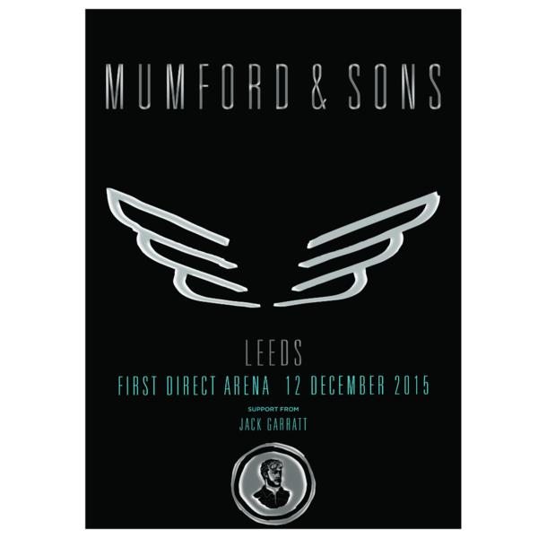 Mumford & Sons : Leeds, UK, 2015 Show Screen Print