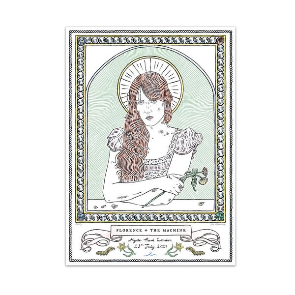 Florence + The Machine: Hyde Park ltd edition screen print