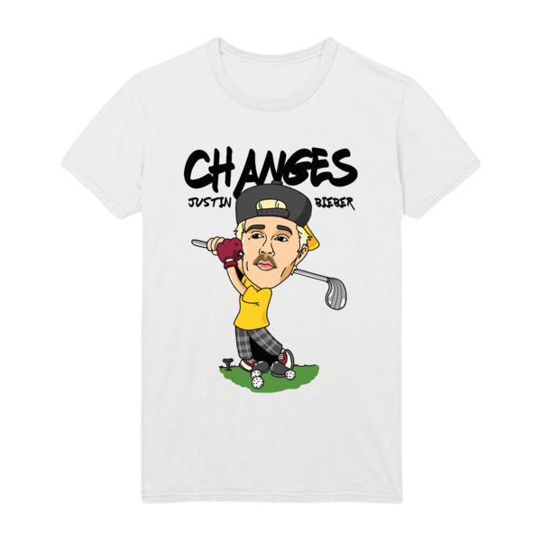 Justin Bieber: CHANGES GOLF DOODLE T-SHIRT - L