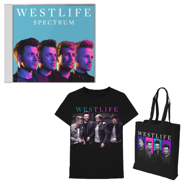 Westlife: Spectrum CD + Tee + Tote