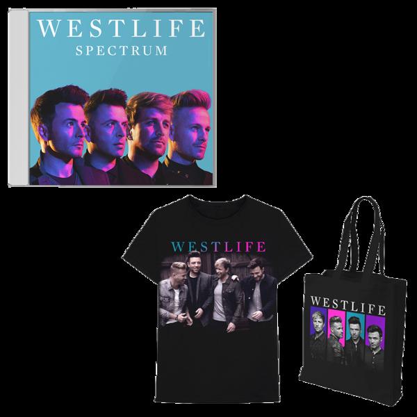 Westlife: Spectrum CD + Tee + Tote