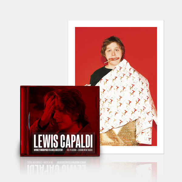 Lewis Capaldi: DUTAHE EXTENDED EDITION CD + LIMITED EDITION RED PRINT