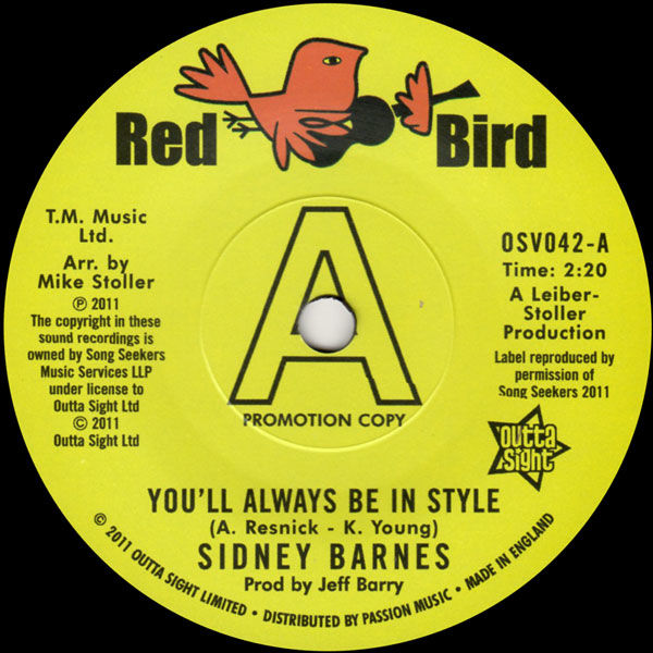 Sidney Barnes: You'll Always Be In Style / I Hurt On The Other Side