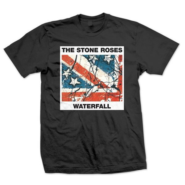 The Stone Roses: Kids Black Waterfall T-Shirt