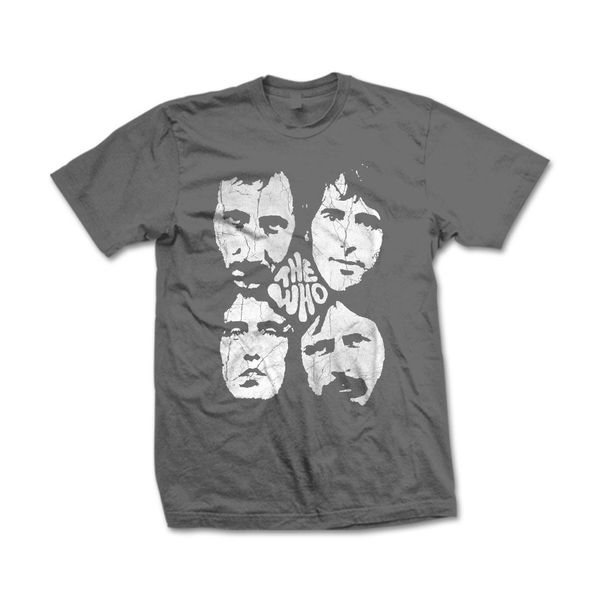 The Who: Four Faces Faded T-Shirt