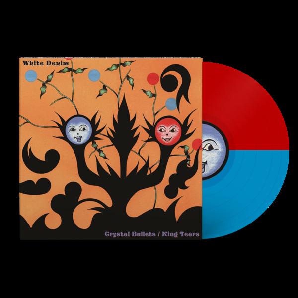 White Denim: Crystal Bullets b/w King Tears: Limited Edition Red + Blue Split Colour Vinyl