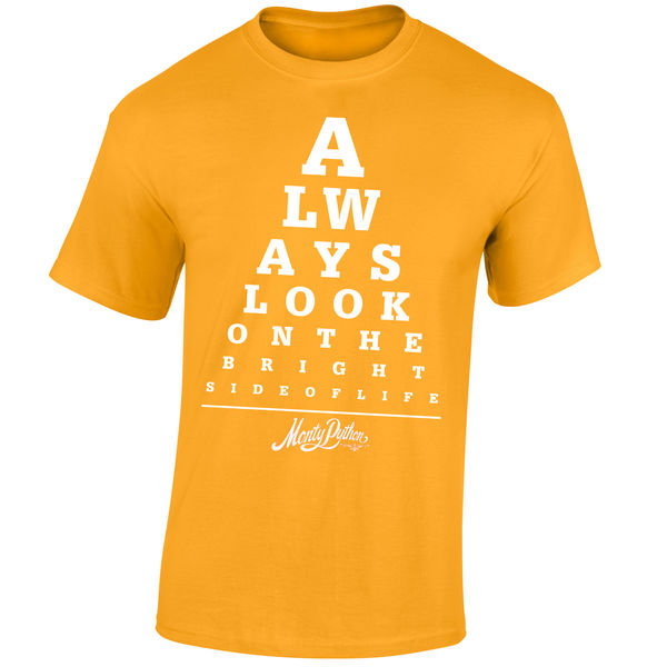 Monty Python: Always Look On The Bright Side Of Life Limited Edition Yellow Tee