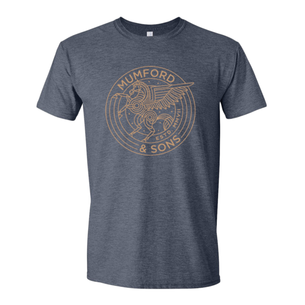Mumford & Sons : Pegasus T-Shirt (Heather Navy)