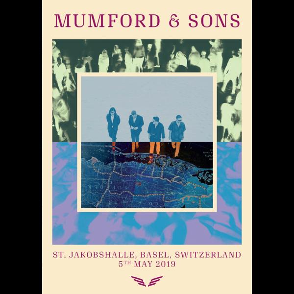 Mumford & Sons : European Delta Tour Print 2019 (Basel)