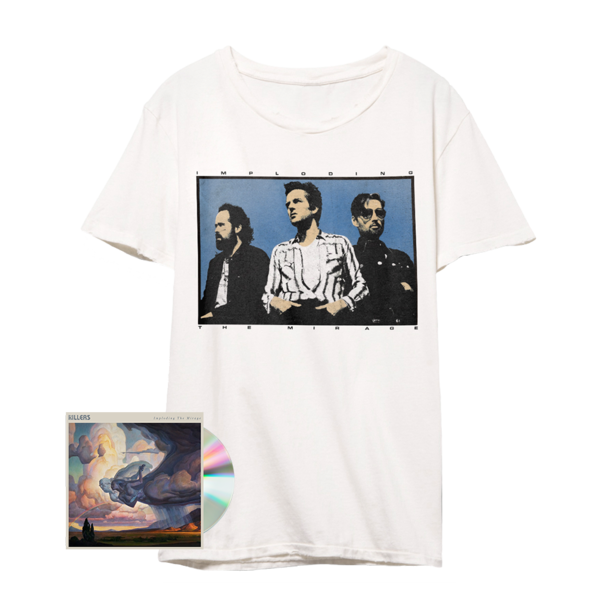 The Killers: Imploding the Mirage Band T-Shirt (White) + CD