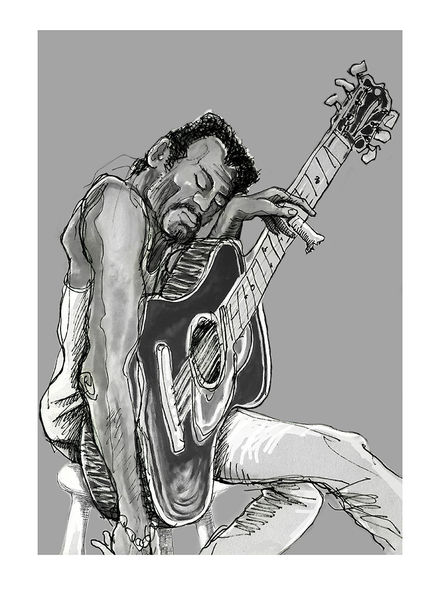 Ronnie Wood: Bluesman Art Print