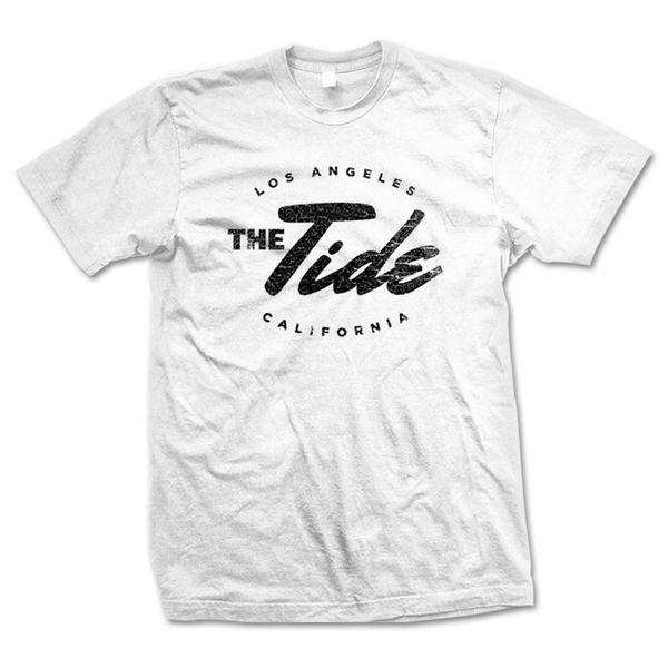 The Tide: White Unisex Logo T-Shirt