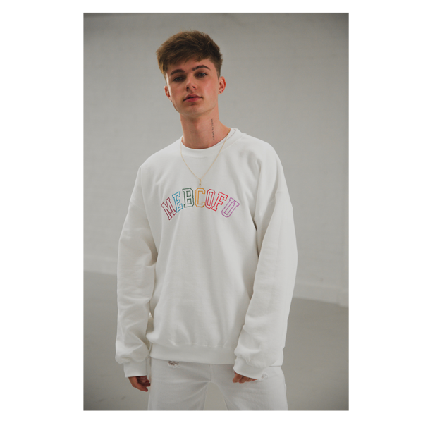 HRVY: WHITE MEBCOFU SWEAT - S