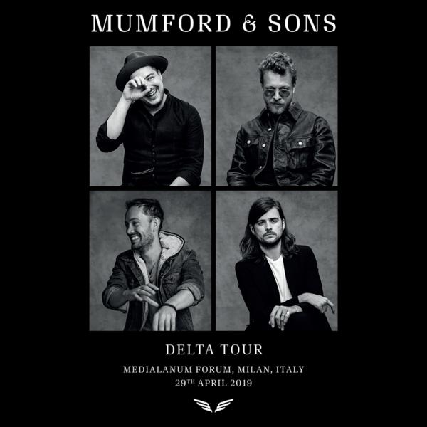 Mumford & Sons : European Delta Tour Portrait Print 2019 (Milan)