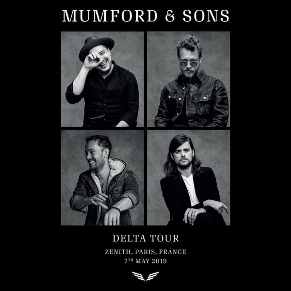 Mumford & Sons : European Delta Tour Portrait Print 2019 (Paris)
