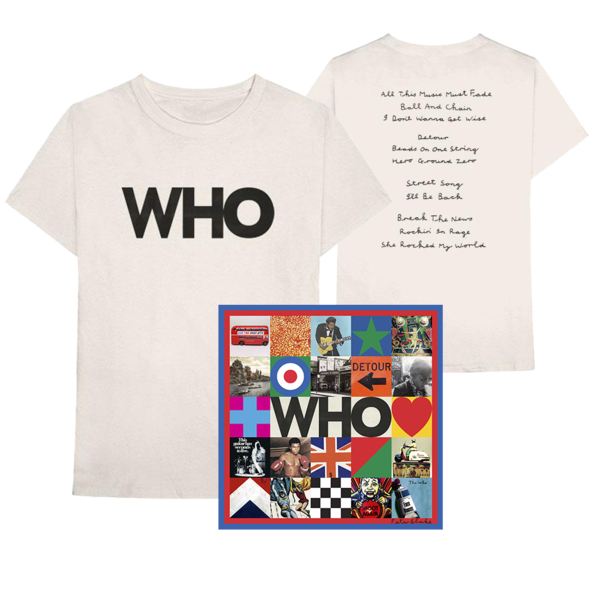 The Who: Deluxe CD + Who Album Logo Tee