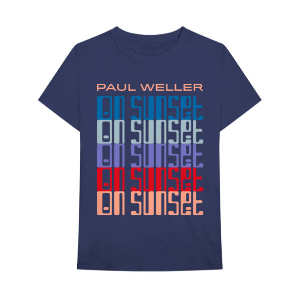 Paul Weller: On Sunset Logo T-Shirt - Navy