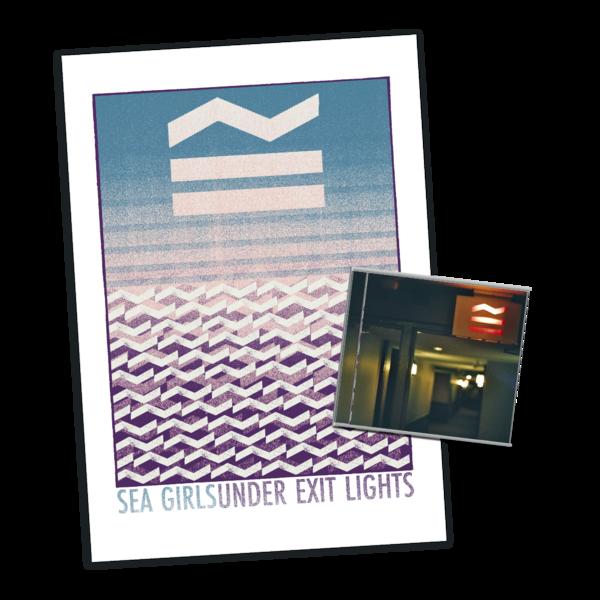 Sea Girls: Under Exit Lights CD + Screen Print