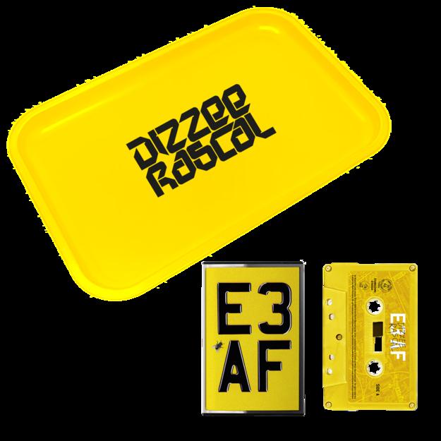 Dizzee Rascal: E3 AF: Cassette, Rolling Tray + Signed Art Card