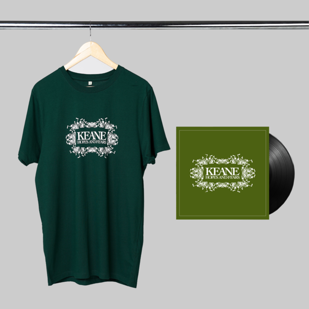 Keane: Hopes and Fears: LP + Green Tee