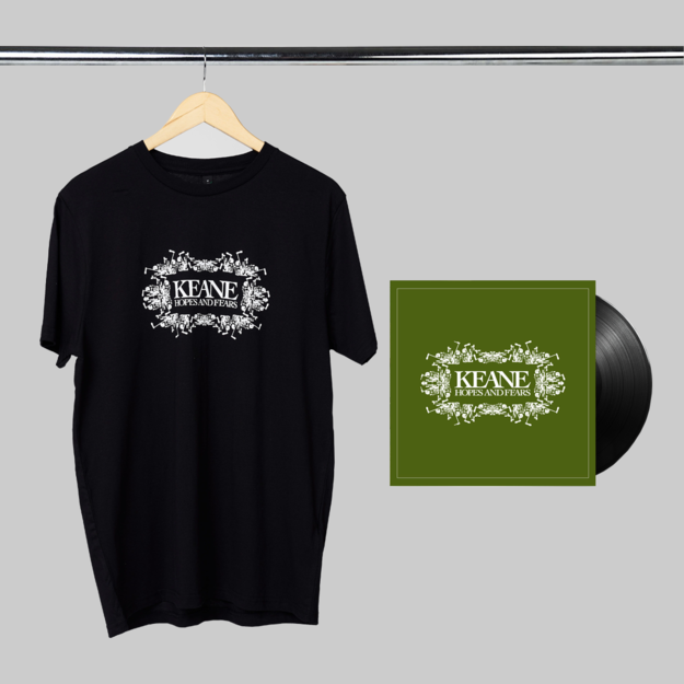 Keane: Hopes and Fears: LP + Black Tee