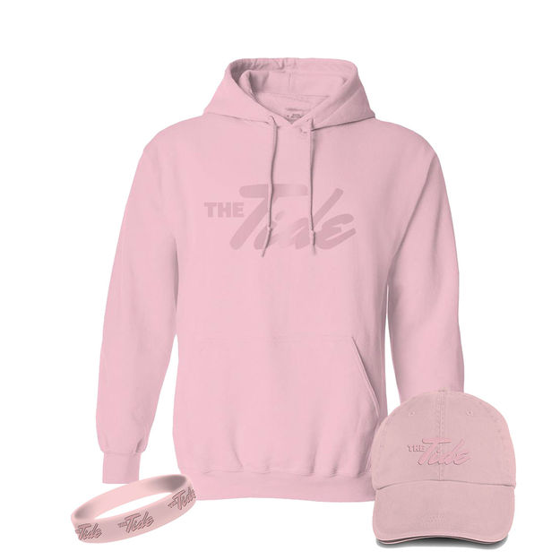 The Tide: Pink Hoodie, Hat & Wristband Bundle