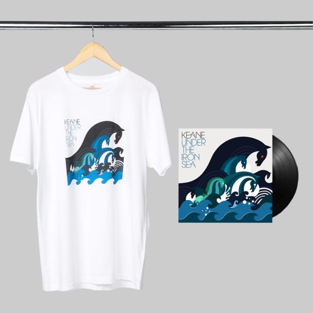 Keane: Under The Iron Sea: LP + White Tee