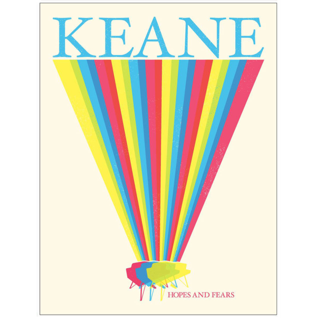 Keane: Limited Edition Hopes And Fears Screen print
