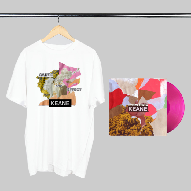 Keane: Cause and Effect: Limited Edition Pink Vinyl + White Tee