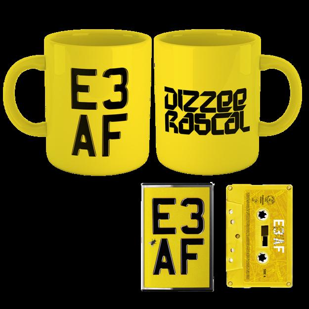 Dizzee Rascal: E3 AF: Cassette, Mug + Signed Art Card