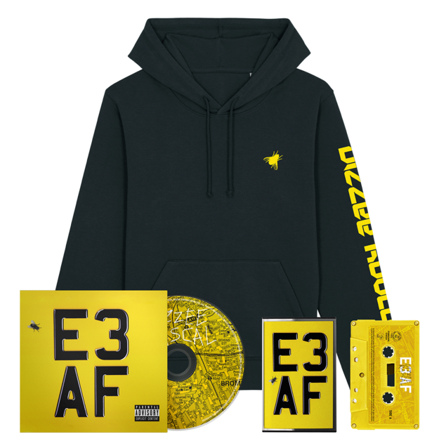 Dizzee Rascal: E3 AF: Cassette, CD, Signed Art Card + Hoodie