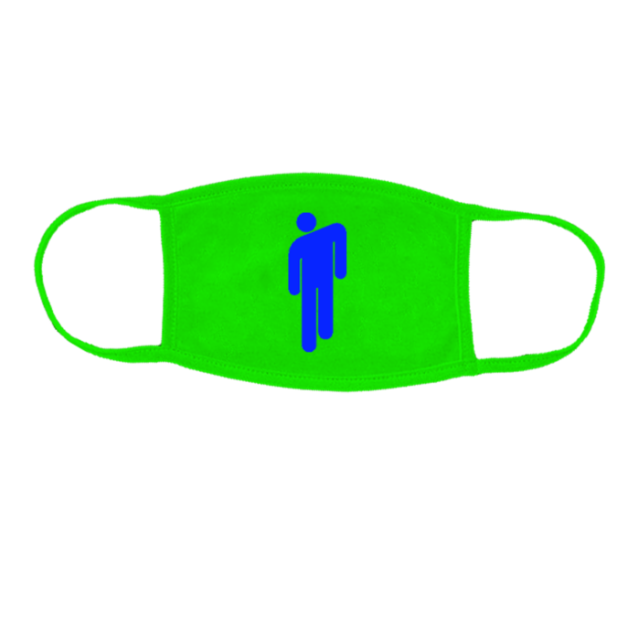 Billie Eilish: Blohsh Neon Green Face Mask – Proceeds Donated
