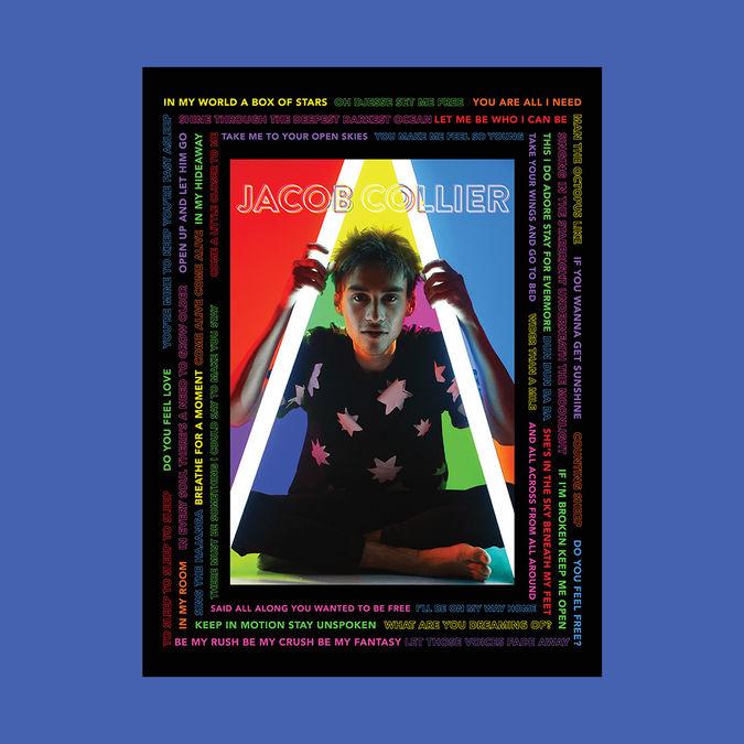 Jacob Collier: Jacob Collier Lyrics Poster - Signed