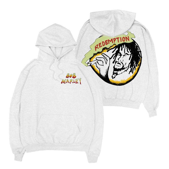 Bob Marley: Rasta Records White Hoodie XL