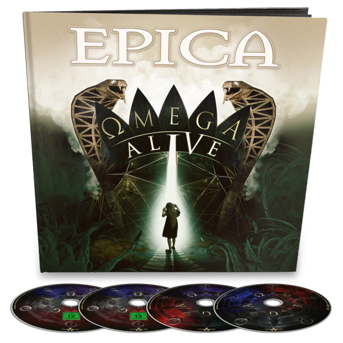 Epica: Omega Alive: Blu-Ray/DVD/2CD Earbook + SIGNED PHOTOCARD