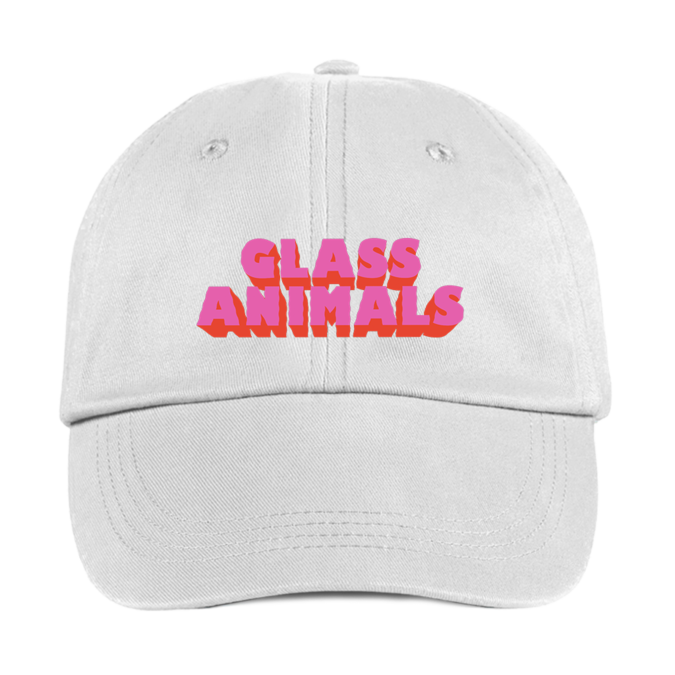 Glass Animals: GA WHITE EMBROIDERED CAP