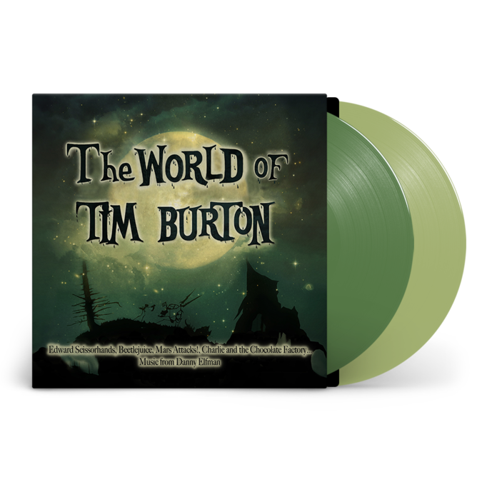 Danny Elfman, Howard Shore, Stephen Sondheim: The World of Tim Burton: Recordstore Exclusive Green + Clear Vinyl LP